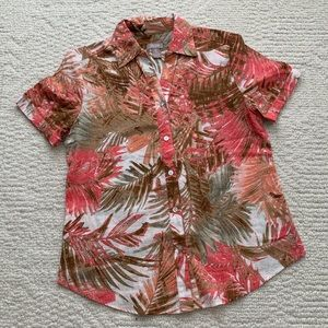 Chico's tropical blouse 🌴